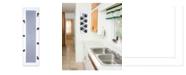"Trendy Decor 4U 7-Peg Mug Rack by Millwork Engineering, White Frame, 7"" x 26"""