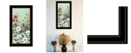 """Trendy Decor 4U Floral Field Day by Michele Norman, Ready to hang Framed Print, Black Frame, 15"""" x 27"""""""