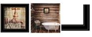 "Trendy Decor 4U Rinse by Misty Michelle, Ready to hang Framed Print, Black Frame, 15"" x 15"""