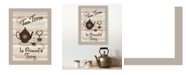 """Trendy Decor 4U Tea Time by Millwork Engineering, Ready to hang Framed Print, Sand Frame, 10"""" x 14"""""""
