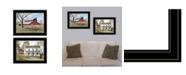 "Trendy Decor 4U Summer's End 2-Piece Vignette by Billy Jacobs, Black Frame, 19"" x 15"""