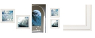 "Trendy Decor 4U Sailboat Marina 2-Piece Vignette by Bluebird Barn, White Frame, 15"" x 15"""