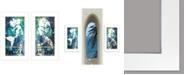 "Trendy Decor 4U Under The Sea 2-Piece Vignette by Cindy Jacobs, White Frame, 11"" x 19"""