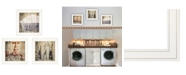 "Trendy Decor 4U Trendy Decor 4U Wash 3-Piece Vignette by Misty Michelle, White Frame, 15"" x 15"""