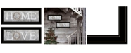 "Trendy Decor 4U Where Our Story Begins 2-Piece Vignette by Marla Rae, Black Frame, 27"" x 11"""