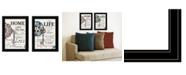 "Trendy Decor 4U Life / Home 2-Piece Vignette by Robin-Lee Vieira, Black Frame, 15"" x 19"""