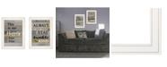 "Trendy Decor 4U Happily Ever After 2-Piece Vignette by Karen Tribett, White Frame, 15"" x 21"""