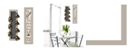 """Trendy Decor 4U Come On In 2-Piece Vignette with 7-Peg Mug Rack by Millwork Engineering, Sand Frame, 7"""" x 32"""""""