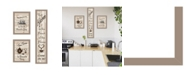"""Trendy Decor 4U The Kitchen Collection II 3-Piece Vignette by Millwork Engineering, Taupe Frame, 10"""" x 32"""""""