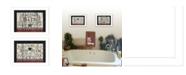 "Trendy Decor 4U Hot Bath 2-Piece Vignette by Linda Spivey, White Frame, 14"" x 10"""