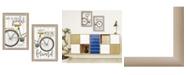"Trendy Decor 4U Pedal it Out 2-Piece Vignette by Marla Rae, Beige Frame, 15"" x 19"""