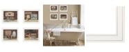 "Trendy Decor 4U Bathroom Collection II 4-Piece Vignette by Pam Britton, White Frame, 17"" x 14"""