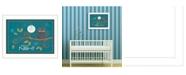 "Trendy Decor 4U Good Night By Tonya Crawford, Printed Wall Art, Ready to hang, White Frame, 14"" x 18"""