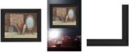 "Trendy Decor 4U Trendy Decor 4U Country Bath By Pam Britton, Printed Wall Art, Ready to hang, Black Frame, 13"" x 16"""