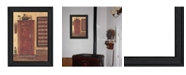 """Trendy Decor 4U Old Red Pie Safe By Pam Britton, Printed Wall Art, Ready to hang, Black Frame, 15"""" x 21"""""""