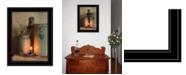 "Trendy Decor 4U No. 3 Bee Sting on a crock by SUSAn Boyer, Ready to hang Framed Print, Black Frame, 15"" x 19"""