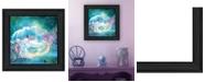 "Trendy Decor 4U Woodland Cove Mermaid by Bluebird Barn, Ready to hang Framed Print, Black Frame, 15"" x 15"""