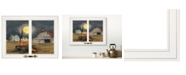 "Trendy Decor 4U Trendy Decor 4U Harvest Moon by Billy Jacobs, Ready to hang Framed Print, White Window-Style Frame, 19"" x 15"""