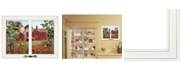 """Trendy Decor 4U Summer Days by Billy Jacobs, Ready to hang Framed Print, White Window-Style Frame, 19"""" x 15"""""""