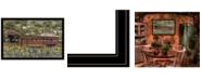 "Trendy Decor 4U Trendy Decor 4U Pottersburg Bridge by Billy Jacobs, Ready to hang Framed Print, Black Frame, 38"" x 26"""