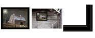 "Trendy Decor 4U Midnight Moon by Billy Jacobs, Ready to hang Framed Print, Black Frame, 27"" x 21"""