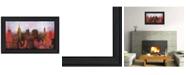 """Trendy Decor 4U NYC Skyline by Cloverfield Co, Ready to hang Framed Print, Black Frame, 21"""" x 15"""""""