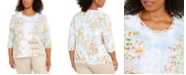 Alfred Dunner Plus Size Garden Party Top