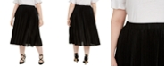 Michael Kors Plus Size Foil Animal-Print Pleated Skirt