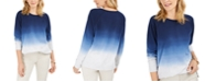 Style & Co Petite Cotton Ombré Sweatshirt, Created For Macy's