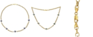 """Macy's Cultured Tahitian Pearl (8mm) 18"""" Collar Necklace in 18k Gold-Plated Sterling Silver"""