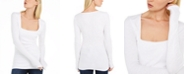 INC International Concepts INC Square-Neck Ribbed Top, Created For Macy's