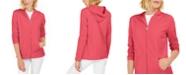 Karen Scott Petite French Terry Zip-Front Hoodie, Created for Macy's