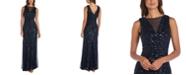 Nightway Petite Allover-Sequin Gown