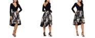 XSCAPE High-Low Brocade Dress