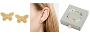 Olivia Burton Butterfly Stud Earrings in Gold-Plated Sterling Silver