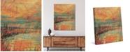 "Creative Gallery Madder Reeds Autumn Lake 36"" x 24"" Canvas Wall Art Print"