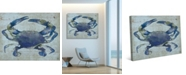 "Creative Gallery Indigo Blue Crab 36"" x 24"" Canvas Wall Art Print"