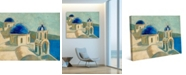 "Creative Gallery Santorini, Greek Coast Cyclades 36"" x 24"" Canvas Wall Art Print"