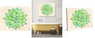 "Creative Gallery Jolly Succulent Cactus Watercolor 20"" x 16"" Canvas Wall Art Print"