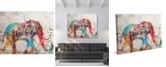 "Creative Gallery Taj Mahal Elephant Graffiti in Red 20"" x 16"" Canvas Wall Art Print"