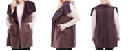 Fever Plus Size Faux-Shearling Sweater Vest