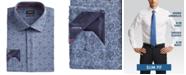 Buffalo David Bitton Men's Slim-Fit Performance Stretch Blue/Black Paisley-Print Chambray Dress Shirt