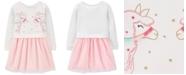 Carter's Toddler Girls Layered-Look Llama Dress