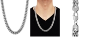"""Macy's Cuban Link 26"""" Chain Necklace in Sterling Silver"""