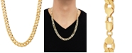 """Macy's Curb Link 24"""" Chain Necklace in 18k Gold-Plated Sterling Silver"""