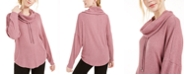 BCX Juniors' Cowl-Neck Dolman-Sleeved Sweater