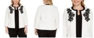 Kasper Plus Size Embroidered Flyaway Jacket