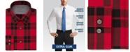 Calvin Klein Men's Extra-Slim Fit Performance Stretch Temperature-Regulating Check Dress Shirt