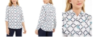 Charter Club Printed Linen-Blend Shirt, Created for Macy's