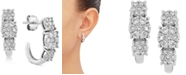 Forever Grown Diamonds Lab Created Diamond Curved Drop Earrings (3/4 ct. t.w.) in Sterling Silver